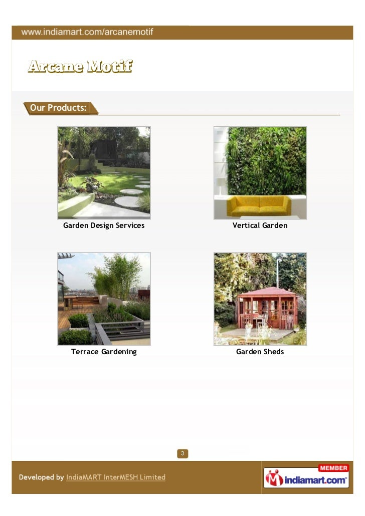 Arcane motif delhi garden design services for Garden design service