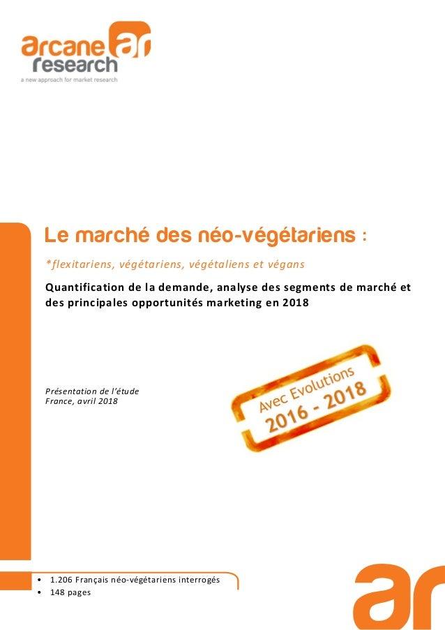 Le marché des néo-végétariens : *flexitariens, végétariens, végétaliens et végans Quantification de la demande, analyse de...