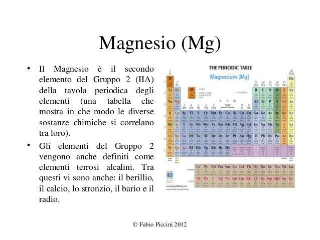 Magnesio e salute - Quanti sono gli elementi della tavola periodica ...