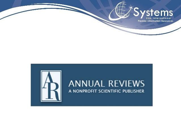 Annual Reviews   - Síntese de importantes pesquisas em 41   diferentes disciplinas que envolvem   Biomedicina/Ciências da ...