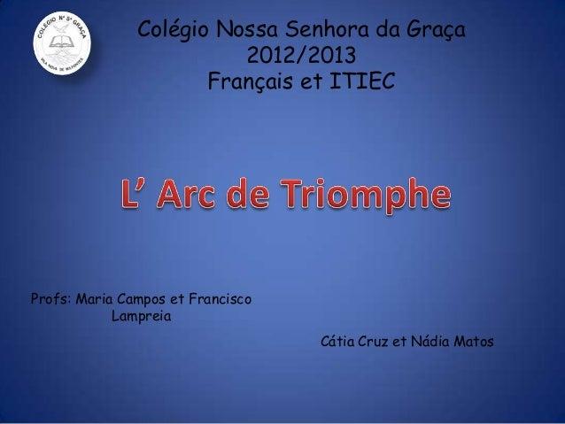 Colégio Nossa Senhora da Graça 2012/2013 Français et ITIEC Cátia Cruz et Nádia Matos Profs: Maria Campos et Francisco Lamp...