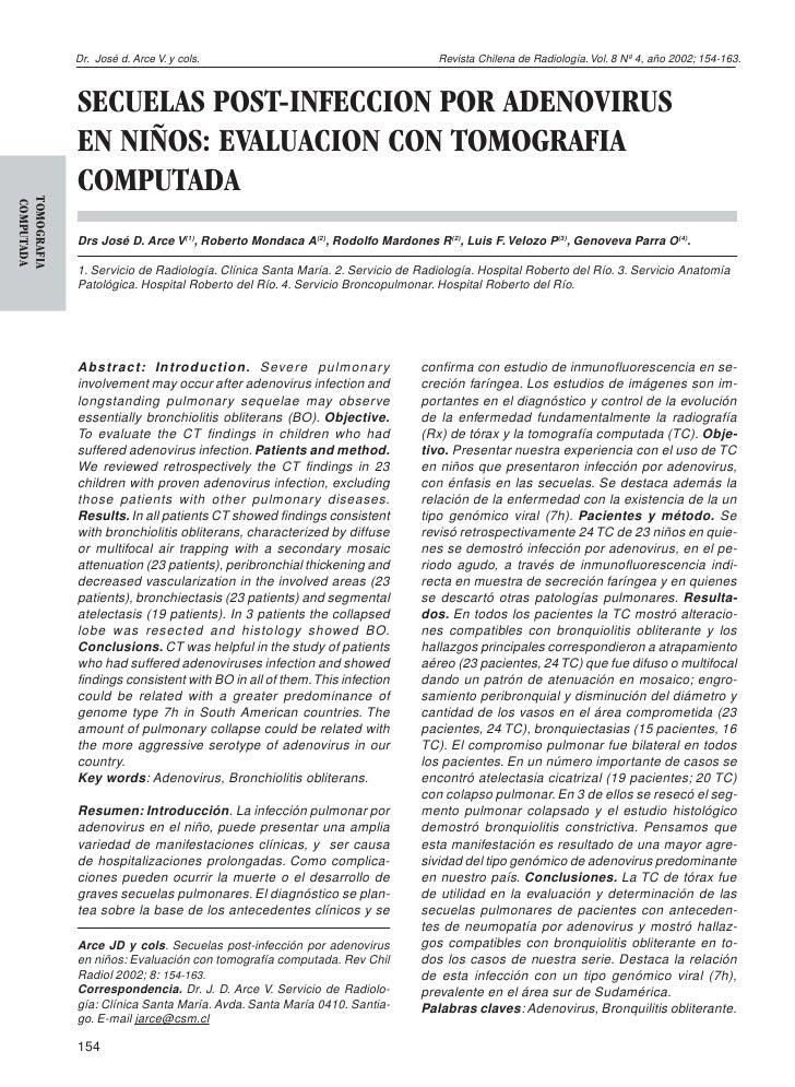Dr. José d. Arce V. y cols.                                       Revista Chilena de Radiología. Vol. 8 Nº 4, año 2002; 15...