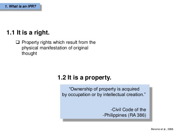 Thesis intellectual property rights