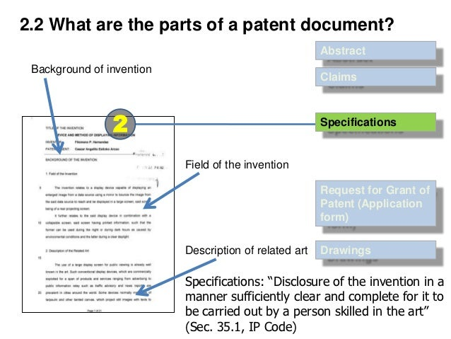 Patent Document, Its Form and Substance