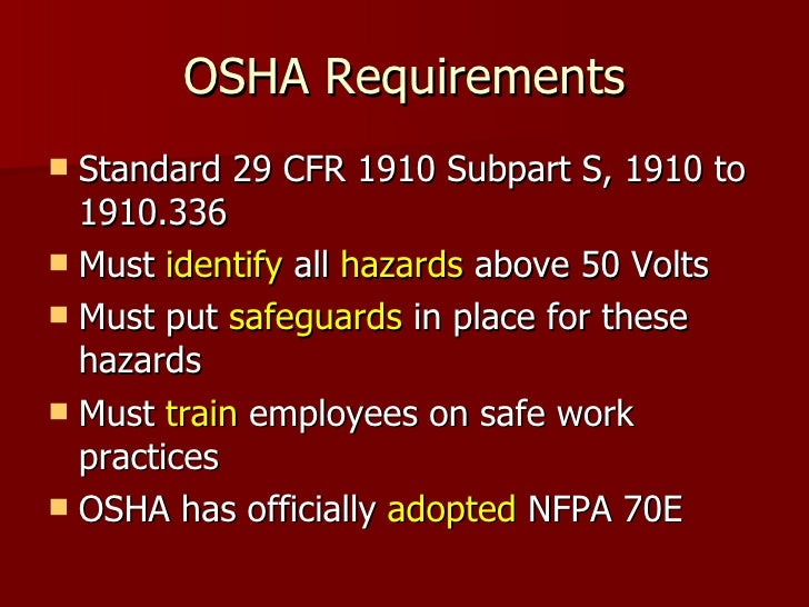 29 CFR Part 1910 - OCCUPATIONAL SAFETY AND HEALTH ...