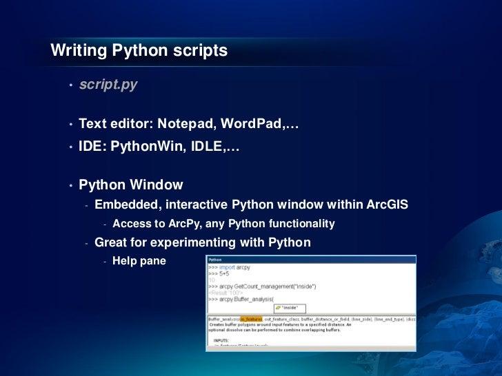 Writing Python scripts