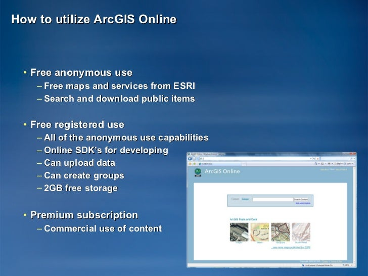 ArcGIS Online at 9 3 1 (EPAN09)