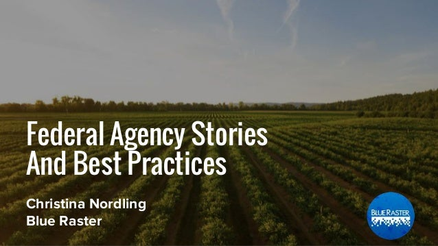 Federal Agency Stories And Best Practices Christina Nordling Blue Raster