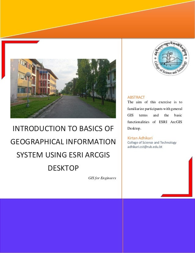 Arc gis tutorial and gis traning manual