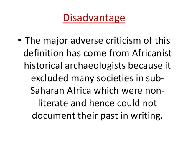 definitions and concept of historical archaeology