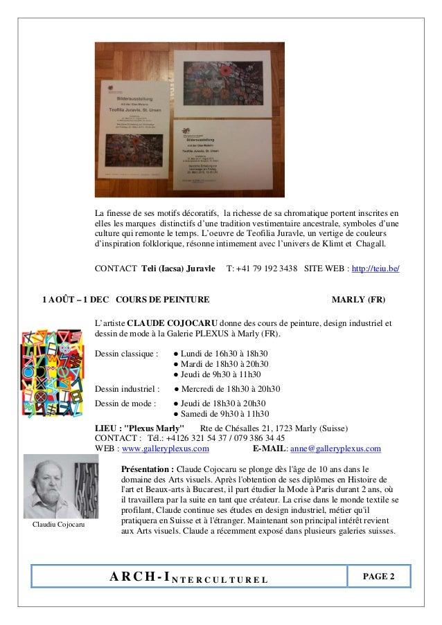 Agenda culturală ARCH-I pe luna august 2015 Slide 2
