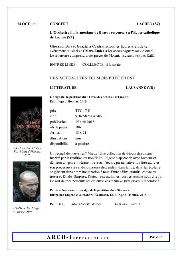 24 OCT, 17h30 CONCERT LACHEN (SZ) L'Orchestre Philarmonique de Brasov en concert à l'Eglise catholique de Lachen (SZ) Giov...