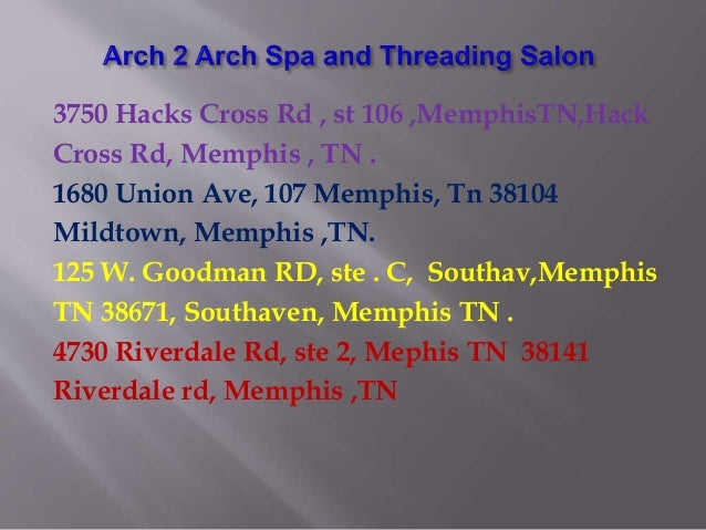 Eyebrow Threading Germantown TN| Arch 2 Arch Spa and Threading Salon