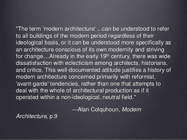 Modern Architecture Alan Colquhoun arch417class03
