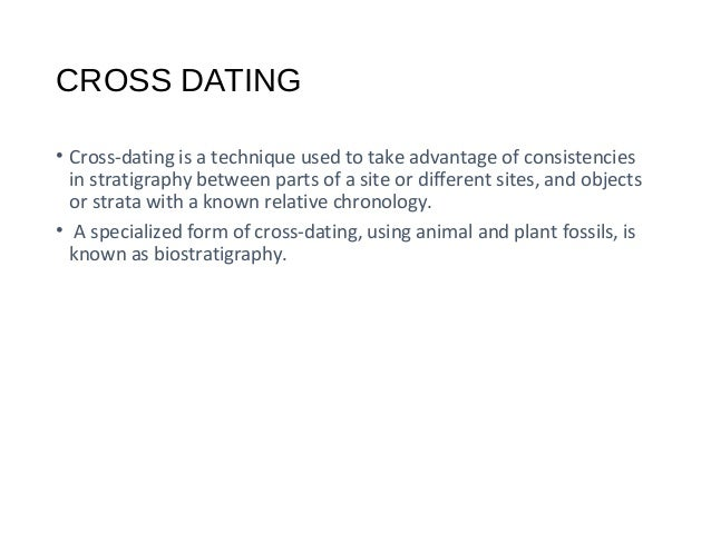 Definition of 'cross-dating'