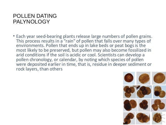 Palynology dating