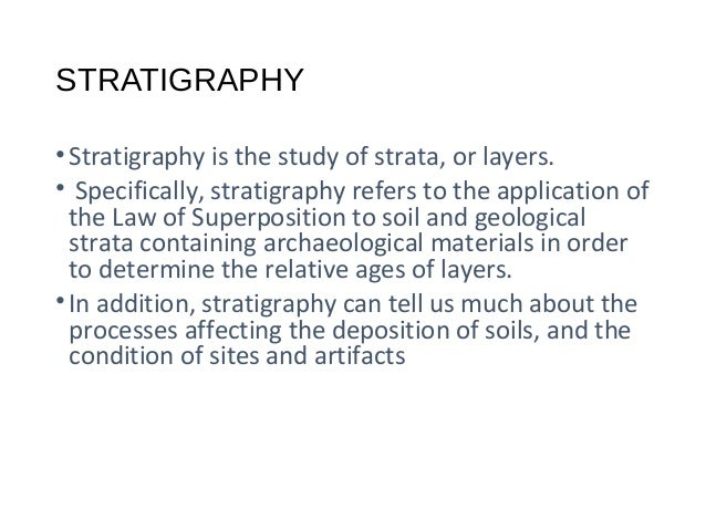 Stratigraphic dating techniques