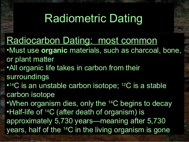 How do archaeologists use radiometric dating