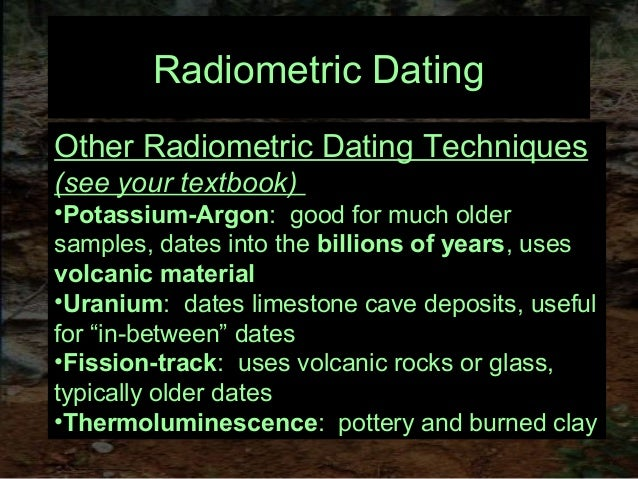 Archeological dating methods