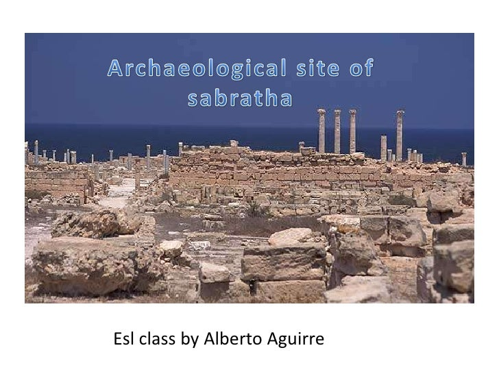 Archaeological site of sabratha<br />Esl class by Alberto Aguirre<br />
