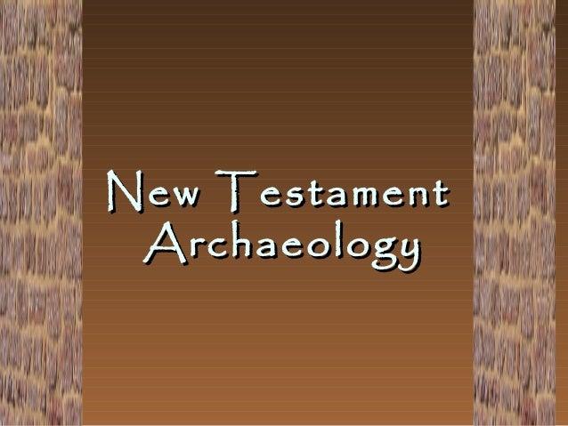 New Testament Archaeology