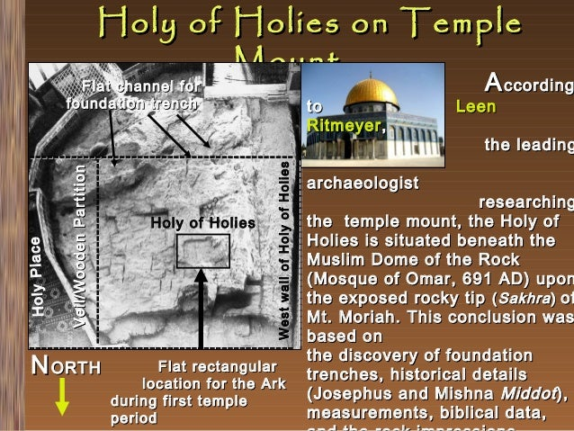Holy of Holies on Temple Mount  Flat channel for foundation trench  to Ritmeyer , -------------------------------  West wa...