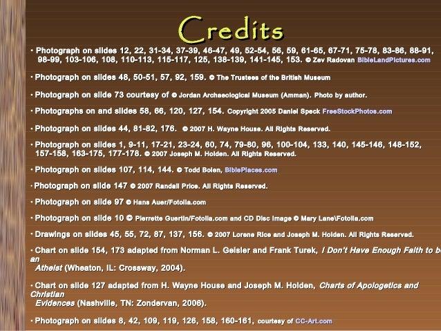 Credits  • Photograph on slides 12, 22, 31-34, 37-39, 46-47, 49, 52-54, 56, 59, 61-65, 67-71, 75-78, 83-86, 88-91, 98-99, ...