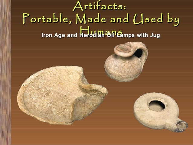 Artifacts: Portable, Made and Used by Iron Age and Humans Herodian Oil Lamps with Jug