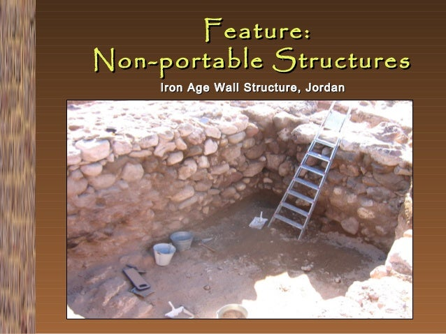 Feature: Non-portable Structures Iron Age Wall Structure, Jordan