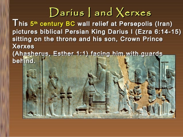 Darius and xerxes receiving tribute essay