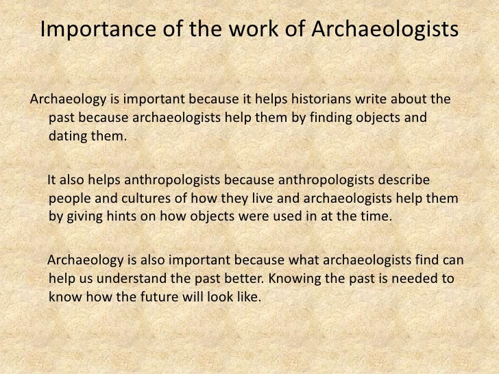 Describe the important hookup methods in archaeology