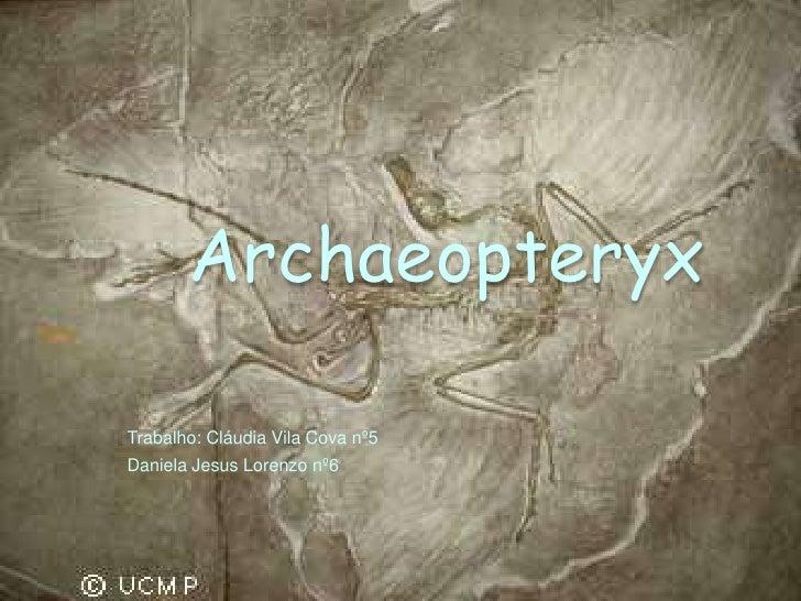 ArchaeopteryxTrabalho: Cláudia Vila Cova nº5Daniela Jesus Lorenzo nº6