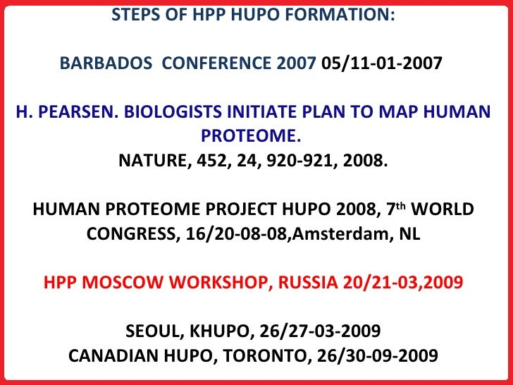 Human Proteome Project Nature