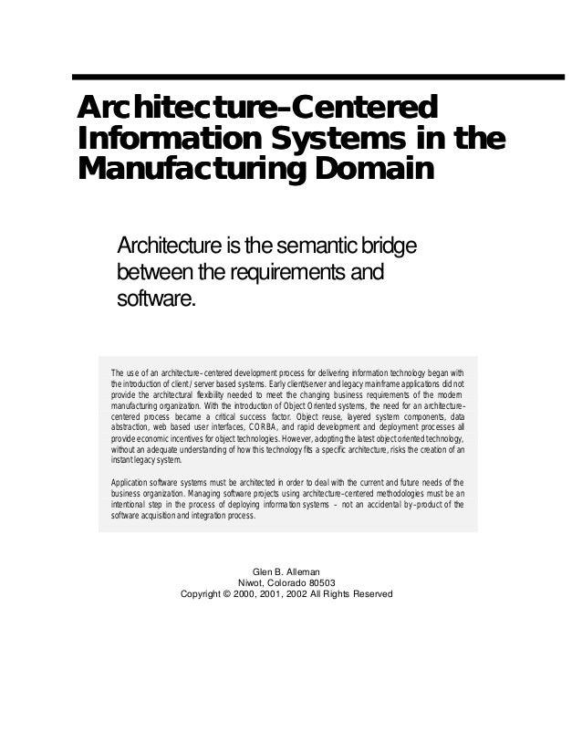 Architecture Centered Design