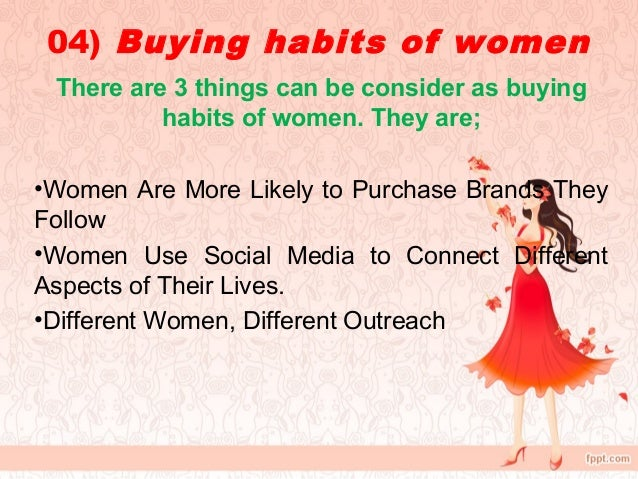 buying behavior of women Title: study of consumer buying behavior towards cosmetics with special  reference to women in pune city researcher: patil, sheetal jitendra.