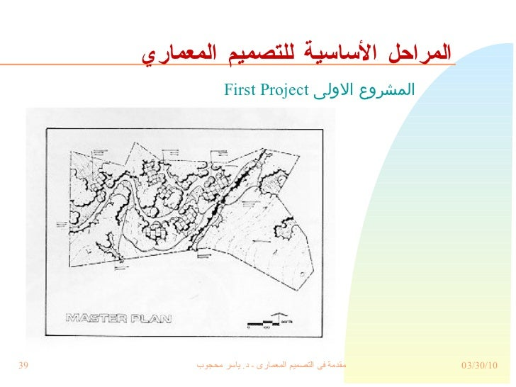 المراحل الأساسية للتصميم المعماري المشروع الاولى  First Project
