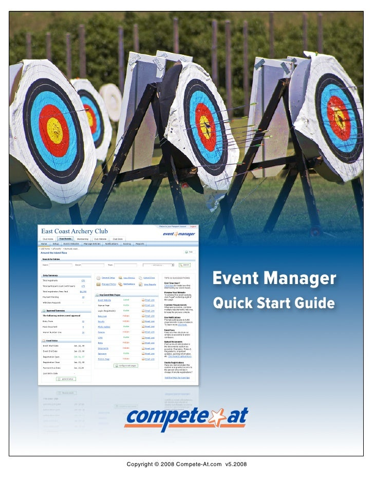 East Coast Archery Club                                                          Event Manager                            ...
