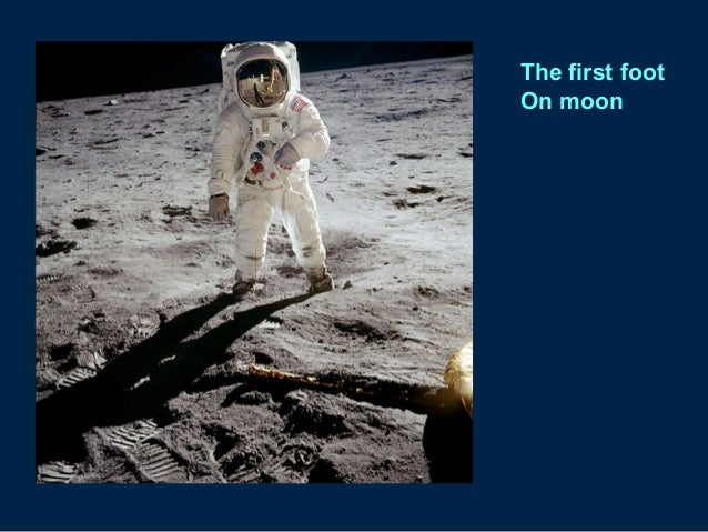 The first foot On moon