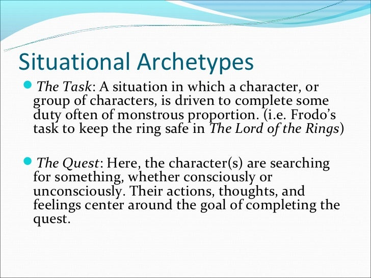 archetypal symbols best  5 situational archetypes