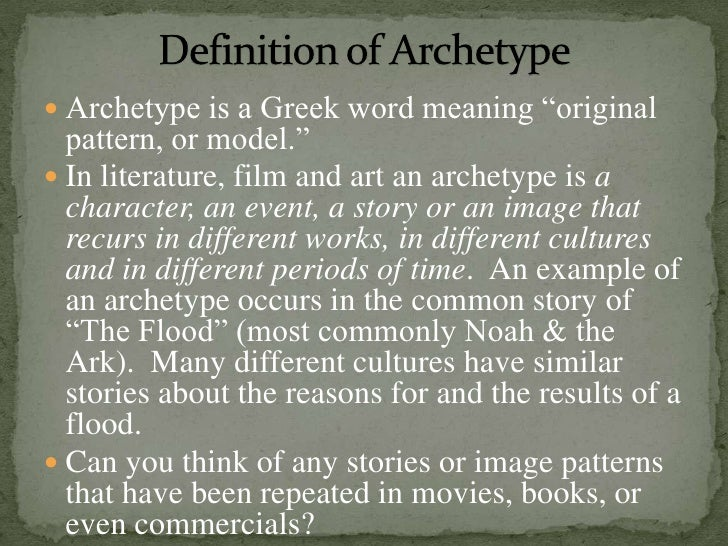 Archetypal theory iii for What does mean lit