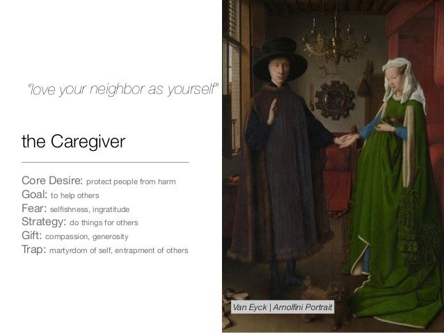 the Caregiver Core Desire: protect people from harm  Goal: to help others  Fear: selfishness, ingratitude  Strategy: do thi...