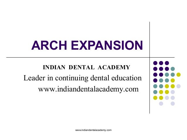 ARCH EXPANSION www.indiandentalacademy.com INDIAN DENTAL ACADEMY Leader in continuing dental education www.indiandentalaca...