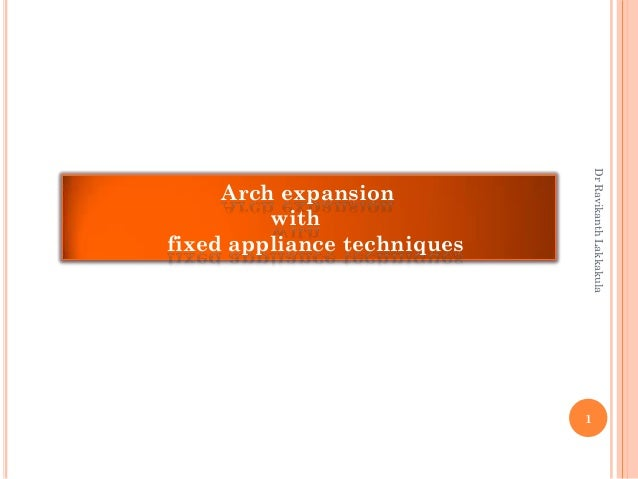 Arch expansion with fixed appliance techniques 1 DrRavikanthLakkakula