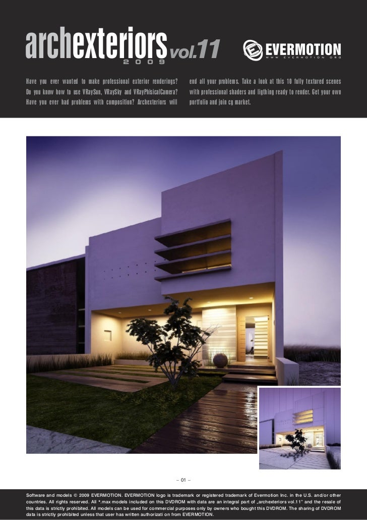 archexteriors vol.11                         2 0 0 9Have you ever wanted to make professional exterior renderings?        ...