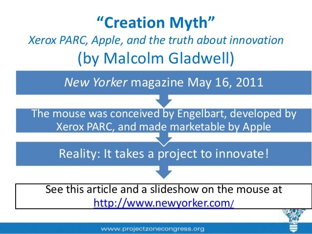 malcolm gladwell s the creation myth review