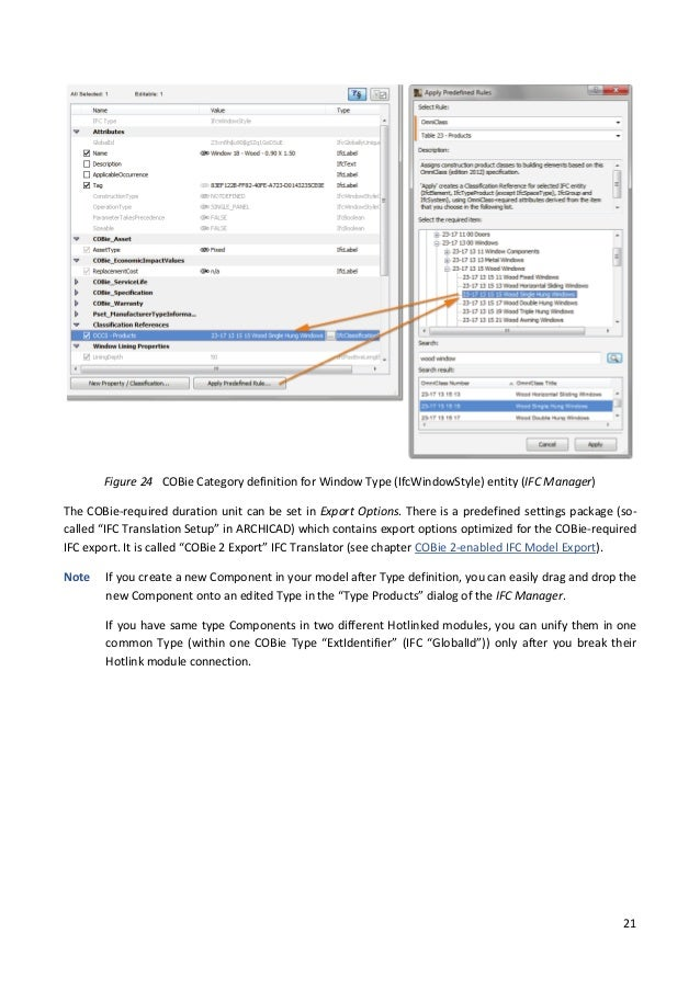 How to prepare your ARCHICAD Project for COBie 2 Documentation