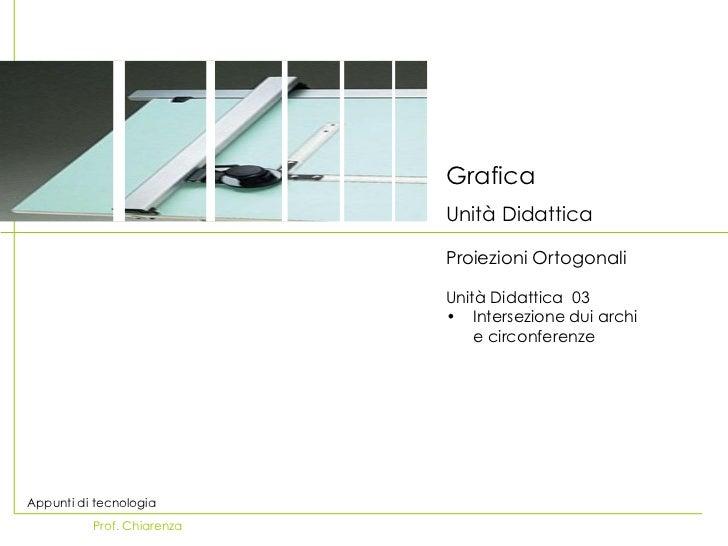 Grafica Unità Didattica <ul><li>Proiezioni Ortogonali   </li></ul><ul><li>Unità Didattica  03 </li></ul><ul><li>Intersezio...