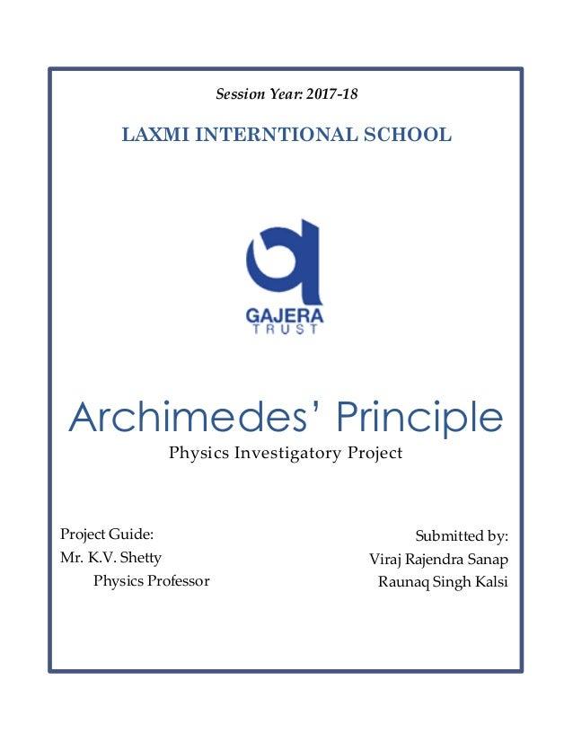 Archimedes princip