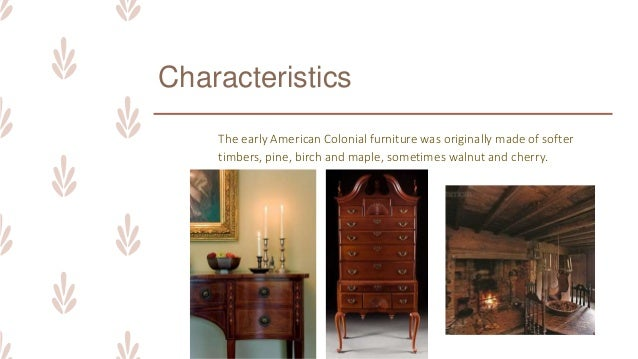 early american colonial furniture