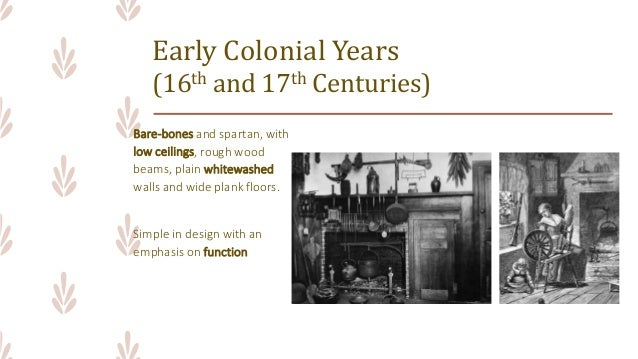 ARCHINT Colonial Period Interior Design Furniture